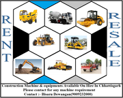 Construction Machine Available On Rent/Resale